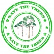 Stock Vector: Save the trees-stamp