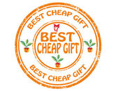 Best cheap gift-stamp — Stockvector