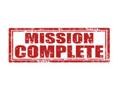 Mission complete-stamp — Stock Vector