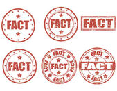 Fact-stamps — Stock Vector
