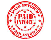 Paid invoice-stamp — Stock Vector