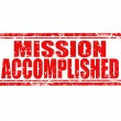 Mission accomplished-stamp — Stock Vector