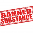 Banned substance-stamp — Stockvectorbeeld