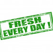 Fresh every day-stamp — Stock Vector