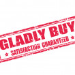 Gladly Buy-stamp — Stockvectorbeeld