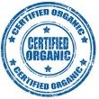Certified organic-stamp — Stock Vector