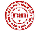 Let's Party-stamp — Stock Vector