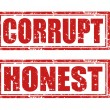 Stock Vector: Corrupt-Honest