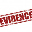 Stock Vector: Evidence-stamp