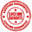 Stock Vector: Lifetime Guarantee-stamp