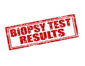Biopsy Test Results-stamp — Stock Vector
