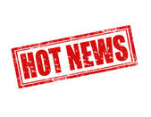 Hot News-stamp — Vector de stock
