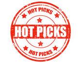 Hot Picks-stamp — Stock Vector
