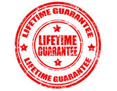 Lifetime Guarantee-stamp — Stock Vector