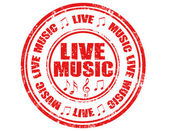 Live Music-stamp — Stock Vector
