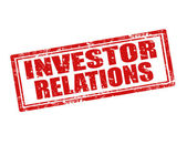 Investor Relations-stamp — Stock Vector