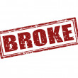 Stock Vector: Broke-stamp