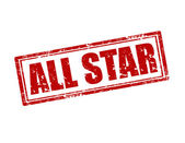 All Star-stamp — Stock Vector