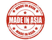 Made in Asia-stamp — Stock Vector