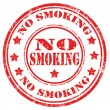 No Smoking-stamp — Stock Vector