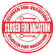 Stock Vector: Closed for Vacation-stamp