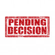 Stock Vector: Pending Decision-stamp