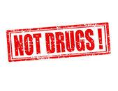 Değil uyuşturucu damgası — Stok Vektör