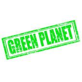 绿色星球-邮票 — 图库矢量图片