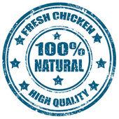 新鲜鸡邮票 — 图库矢量图片