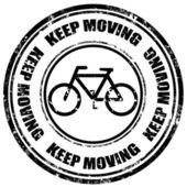 Keep moving-stamp — Stockvector