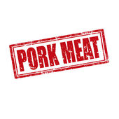 Pork Meat-stamp — Stock Vector