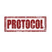 Protocol-stamp — Stock Vector