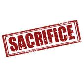 Sacrifice-stamp — Stock Vector