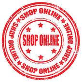Shop online-stamp — Stock Vector