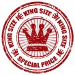 King Size-stamp — Stock Vector