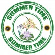 Summer Time-stamp — Stock Vector
