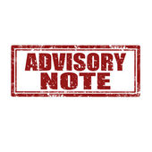 Advisory Note-stamp — Stock Vector