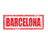 Barcelona-stamp — Stock Vector