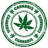 Cannabis-stamp — Stock Vector