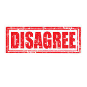 Disagree-stamp — Stock Vector