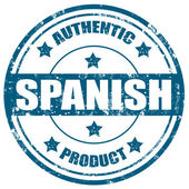 Spanish-Authentic Product — Stock Vector