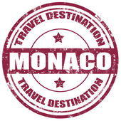 Monaco-stamp — Vector de stock