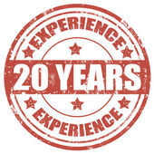 20 Years Experience-stamp — Stock Vector