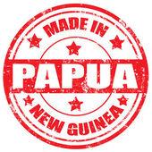 Feita em papua-Nova Guiné — Vetor de Stock