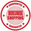 Worldwide Shipping-label — Stockvectorbeeld