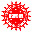 Testimonial-label — Stock Vector