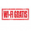 Stock Vector: Wi-Fi Gratis-stamp