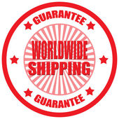Worldwide Shipping-label — Stock Vector