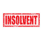 Insolvent-stamp — Stock Vector