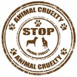 Stock Vector: Stop Animal Cruelty-stamp
